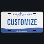 """Michigan Custom License Plate<br><div class=""""desc"""">Customizable Michigan license plate. Personalize and add your own custom text!</div>"""
