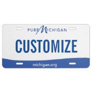 Michigan Custom License Plate at Zazzle
