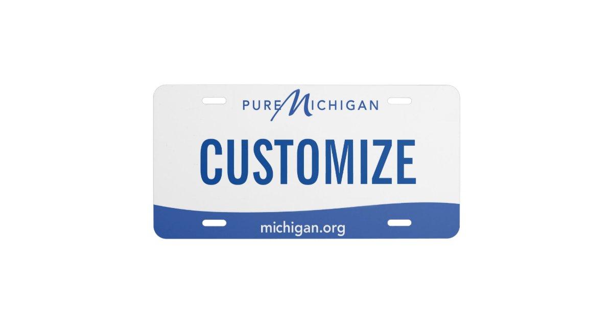 michigan custom license plate zazzle com