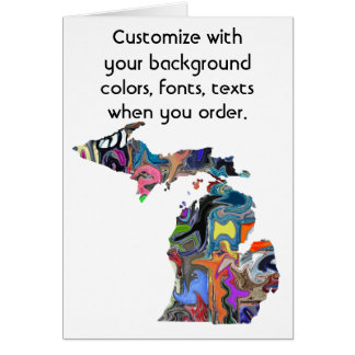 Michigan Customize colorful card how you like