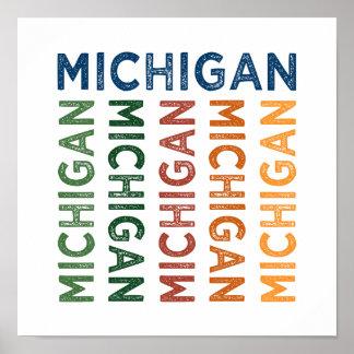Michigan Cute Colorful Poster