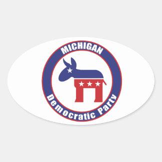 Michigan Democratic Party Oval Sticker