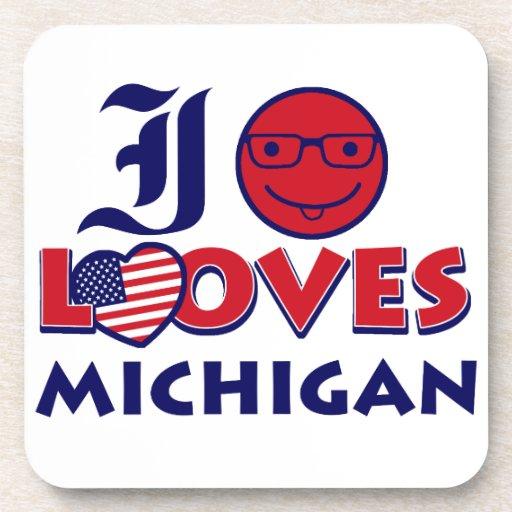 Michigan design coasters