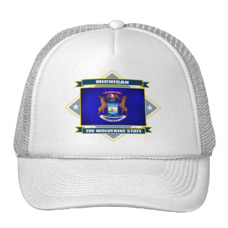 Michigan Diamond Trucker Hat