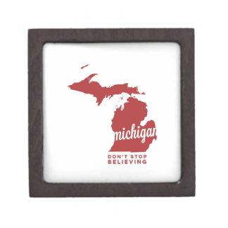 michigan | don't stop believing | crimson jewelry box
