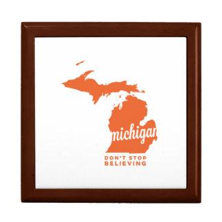 michigan | don't stop believing | orange jewelry box
