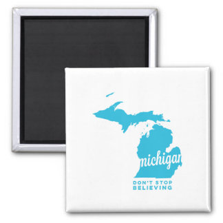 michigan | don't stop believing | sky blue magnet