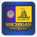 Michigan (DTOM) Pegatina Cuadrada