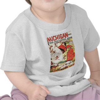 Michigan el estado de Wolverine Camisetas
