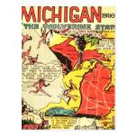 Michigan el estado de Wolverine Tarjetas Postales