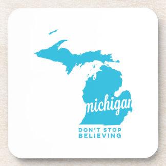 Michigan el | no para el creer del azul de cielo posavasos de bebidas