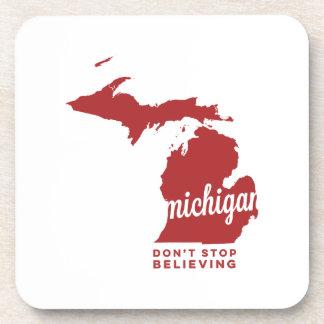 Michigan el | no para el creer del carmesí del | posavaso