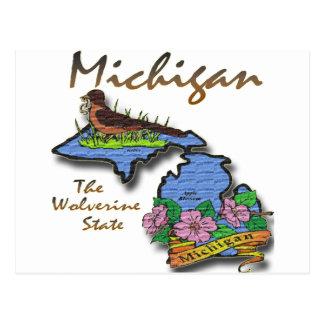 Michigan el petirrojo Apple del estado de Tarjeta Postal