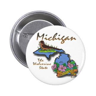 Michigan el petirrojo Apple del estado de Wolverin Pin