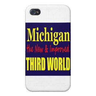 Michigan el TERCER MUNDO nuevo y mejorado iPhone 4/4S Carcasa