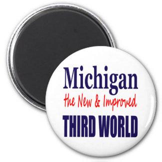 Michigan el TERCER MUNDO nuevo y mejorado Imán Redondo 5 Cm
