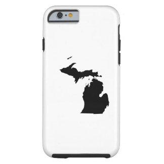 Michigan en blanco y negro funda de iPhone 6 tough