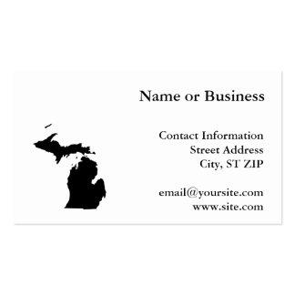 Michigan en blanco y negro tarjetas de visita