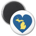 Michigan en el imán del corazón