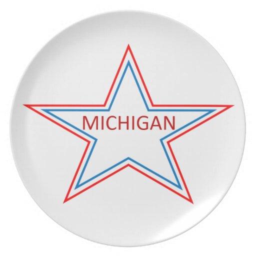 Michigan en una estrella platos de comidas