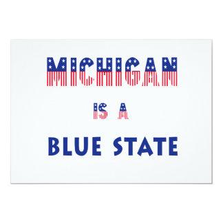 Michigan es un estado azul invitaciones personalizada