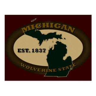 Michigan Est. 1837 Postcard