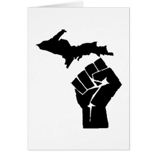 Michigan Fist Card