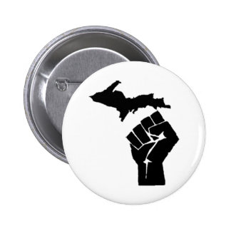 Michigan Fist Pinback Button