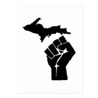 Michigan Fist Postcard