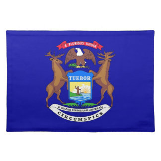 Michigan Flag American MoJo Placemat
