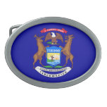 Michigan Flag Belt Buckle