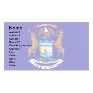 Michigan Flag Business Card Template