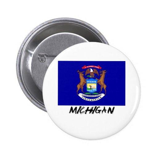 Michigan Flag Button