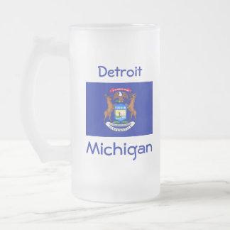 Michigan Flag Map City Mug