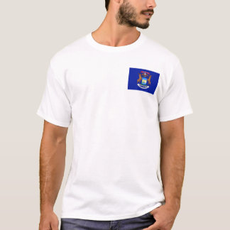 Michigan Flag + Map T-Shirt
