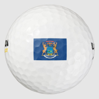 MICHIGAN Flag Pack Of Golf Balls