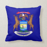 Michigan Flag pillow