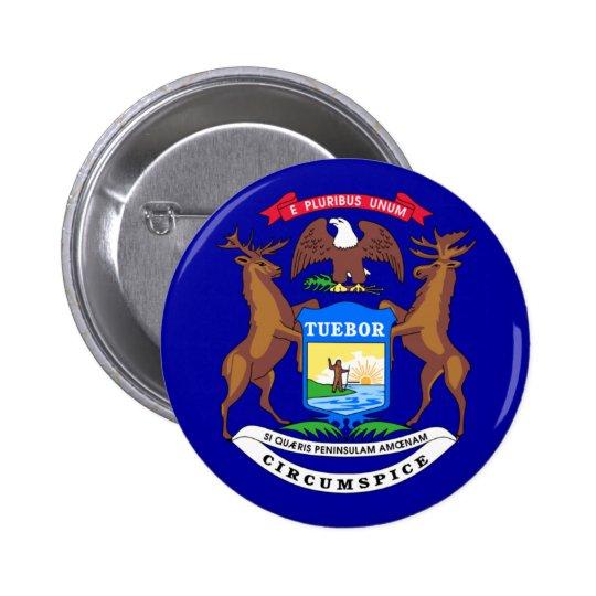 Michigan Flag Pinback Button