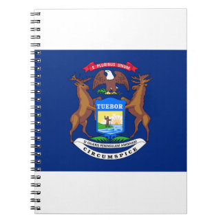 Michigan Flag Spiral Notebook