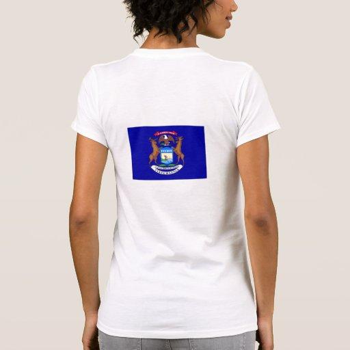 Michigan Flag T-shirts