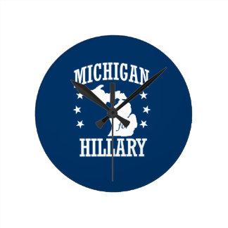 MICHIGAN FOR HILLARY ROUND CLOCKS