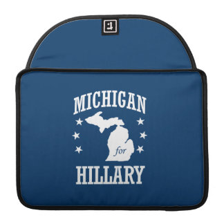 MICHIGAN FOR HILLARY SLEEVES FOR MacBook PRO
