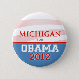 MICHIGAN for Obama 2012 Pinback Button