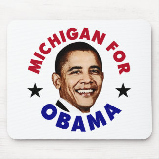 Michigan For Obama Mouse Pad