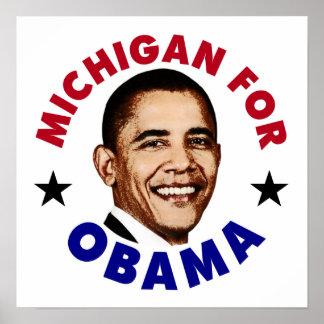 Michigan For Obama Poster