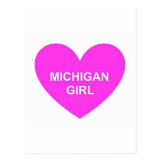 Michigan Girl Postcard