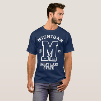 Michigan Go Blue College Men's Basic Dark T-Shirt