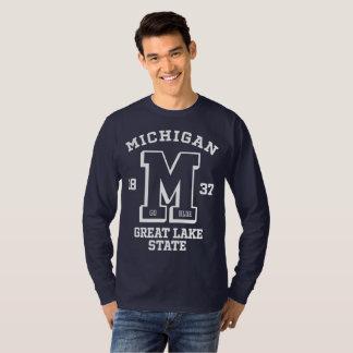 Michigan Go Blue College Men's Long Sleeve T-Shirt