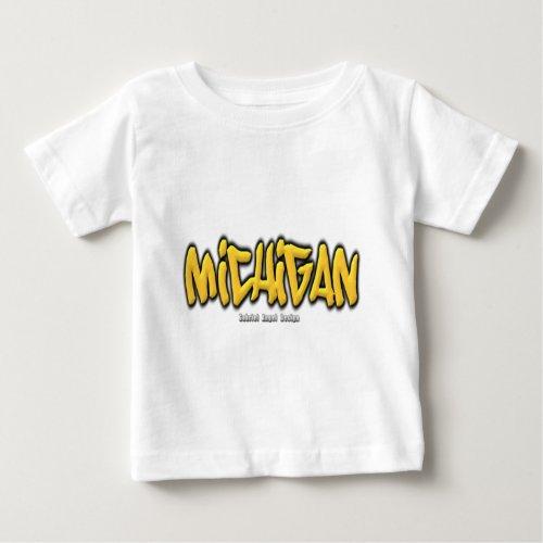 Michigan Graffiti Baby T_Shirt