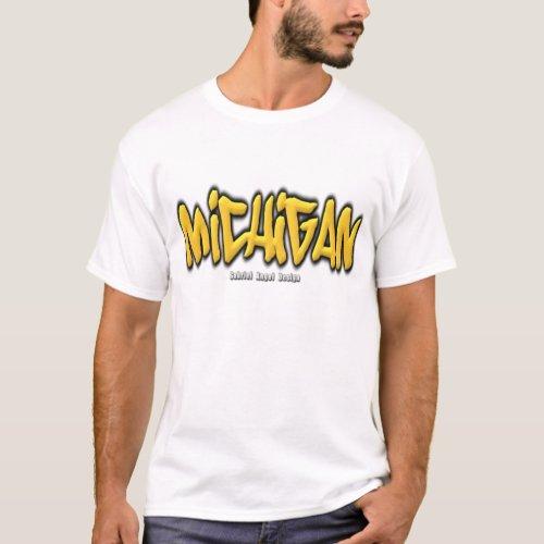 Michigan Graffiti T_Shirt